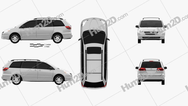 Toyota Sienna LE 2004 car clipart