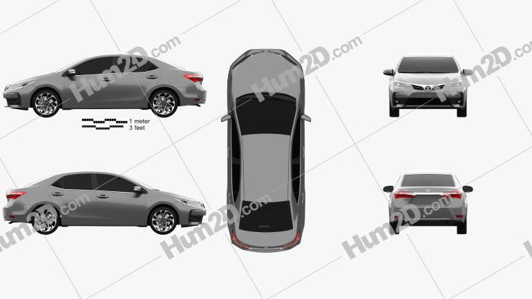 Toyota Corolla 2016 car clipart