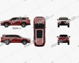 Toyota Highlander SE 2016 car clipart
