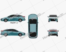 Toyota Prius Prime 2016 car clipart