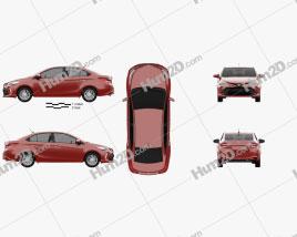 Toyota Vios 2017 car clipart