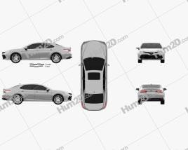 Toyota Camry XLE hybrid 2017 car clipart