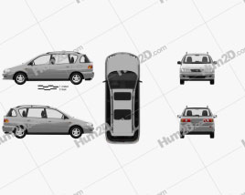 Toyota Picnic 1996 Clipart