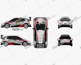 Toyota Yaris WRC 2017 car clipart