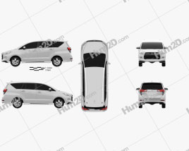 Toyota Innova Crysta (TH) 2017 clipart