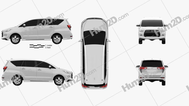 Toyota Innova Crysta (TH) 2017 Clipart Image