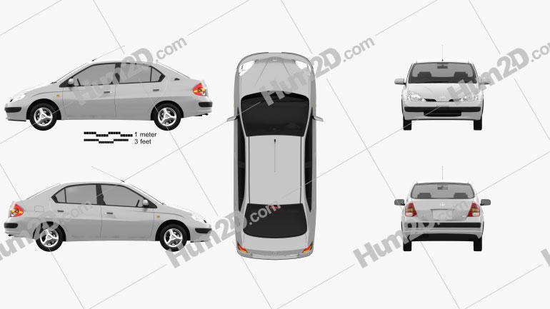 Toyota Prius (JP) 1997 car clipart