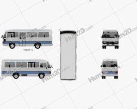 Toyota Coaster School Bus 1983 clipart