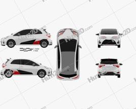 Toyota Yaris GRMN 2017 car clipart
