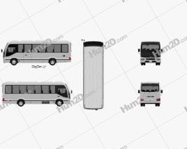 Toyota Coaster Deluxe Bus 2016