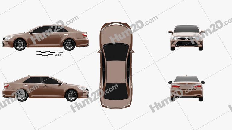 Toyota Camry (CIS) 2017 car clipart