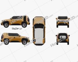 Toyota FT-4X 2017 car clipart