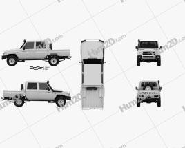 Toyota Land Cruiser J79 Double Cab Pickup 2012 car clipart