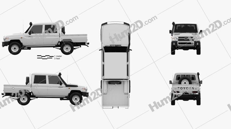 Toyota Land Cruiser J79 Cabina dupla Pickup 2012 car clipart