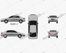Toyota Corolla CE US-spec 2005 car clipart