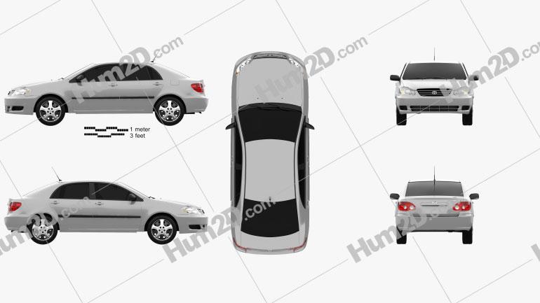 Toyota Corolla CE US-Spez 2005 car clipart
