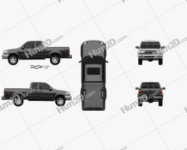 Toyota Tundra Access Cab SR5 1999 car clipart