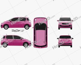 Toyota Passo Moda 2016 car clipart