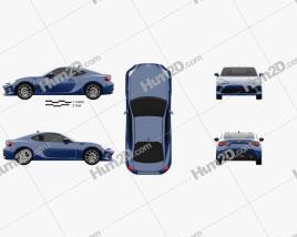 Toyota GT86 US-spec 2017 car clipart