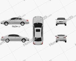 Toyota Avalon XLS 2004 car clipart