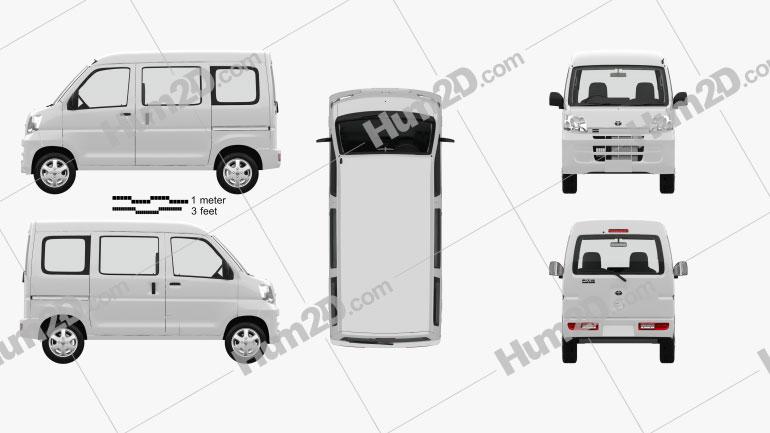 Toyota Pixis Van with HQ interior 2011 clipart