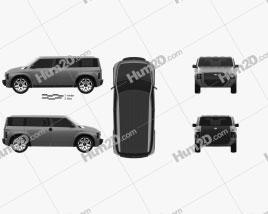 Toyota Tj Cruiser 2017 car clipart