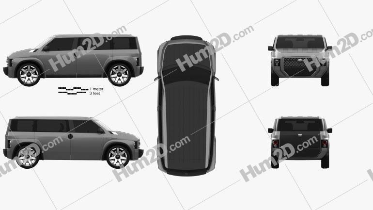 Toyota Tj Cruiser 2017 Imagem Clipart