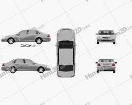 Toyota Avalon XL 2001 car clipart