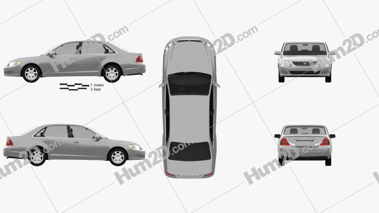 Toyota Avalon XL 2001 Clipart Image