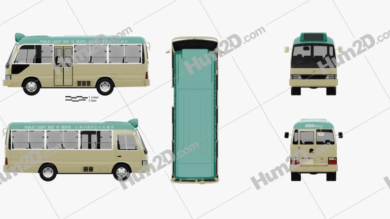 Toyota Coaster Hong Kong Bus 1995 clipart