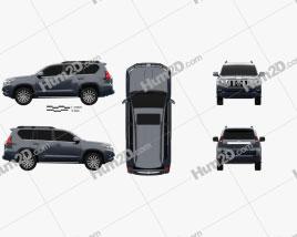 Toyota Land Cruiser Prado 5-door EU-spec 2018 car clipart