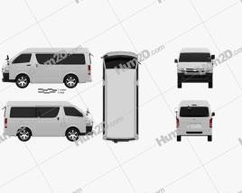 Toyota Hiace Passenger Van L1H3 DX 2013 clipart
