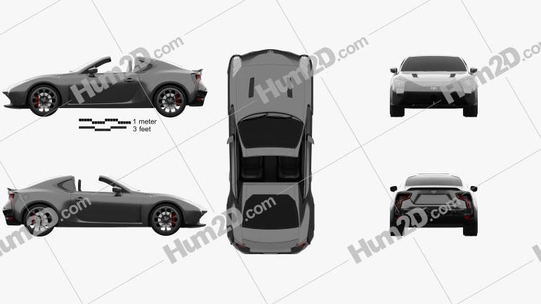 Toyota GR HV Sports 2017 car clipart
