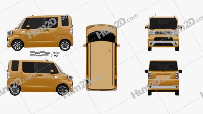Toyota Pixis Mega 2016 clipart
