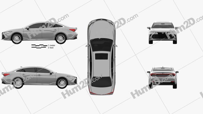 Toyota Avalon Limited Hybrid 2018 car clipart