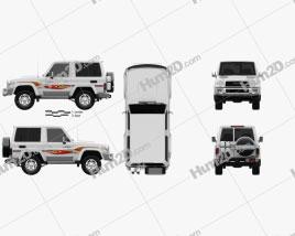 Toyota Land Cruiser 3-türig VXR 2017 car clipart