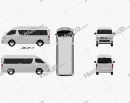 Toyota Hiace Passenger Van L2H3 GLX 2013 clipart