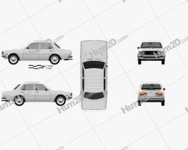 Toyota Corona sedan 1975 car clipart