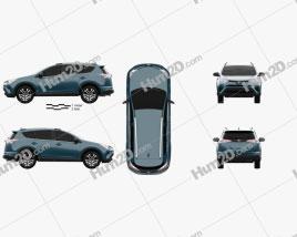 Toyota RAV4 LE 2016 car clipart