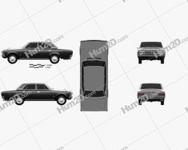 Toyota Crown 1967 car clipart