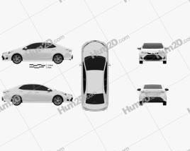 Toyota Corolla Sport 2018 car clipart
