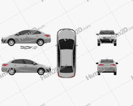 Toyota Yaris TH-spec sedan 2018 Clipart