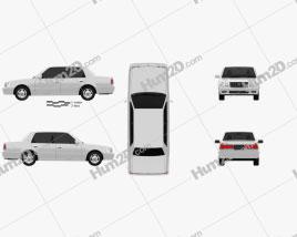 Toyota Crown Comfort 1995 car clipart