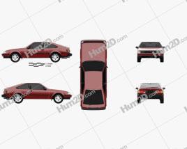 Toyota Celica liftback 1981 car clipart