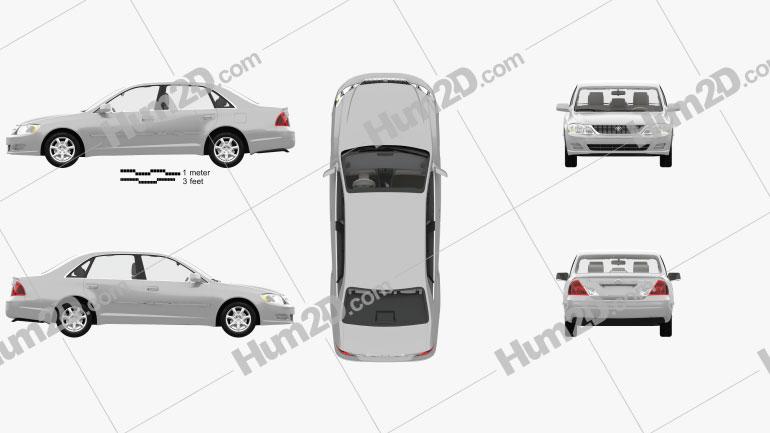 Toyota Avalon XL with HQ interior 2001 car clipart