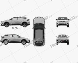 Toyota C-HR with HQ interior 2017