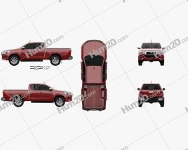 Toyota Hilux Extra Kabine Raider 2019 car clipart