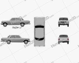 Toyota Crown 1962 car clipart
