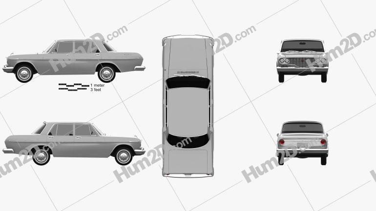 Toyota Crown 1962 Clipart Bild