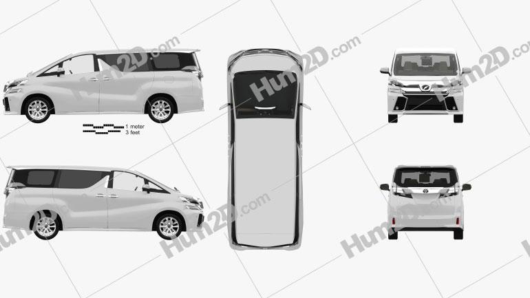 Toyota Vellfire Aero with HQ interior 2015 clipart